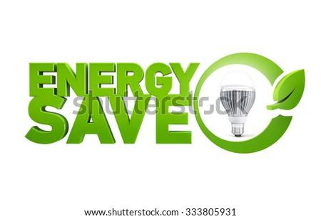 Led lamp energy save, LED technology - stock photo