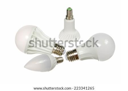 Led lamp isolated on the white background - stock photo