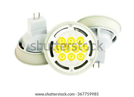 LED lamp isolated on white background - stock photo