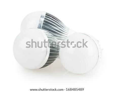 led lamp light bulb isolated on white background - stock photo
