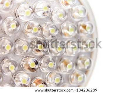 LED lamp. Photo Close-up - stock photo