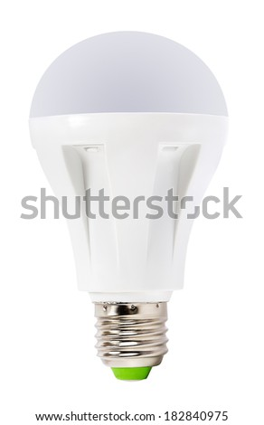 LED lamp with E27 standard socket. Isolated on white - stock photo
