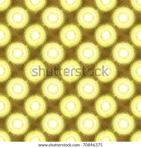 LED light and diffusing screen mosaic pattern - stock photo
