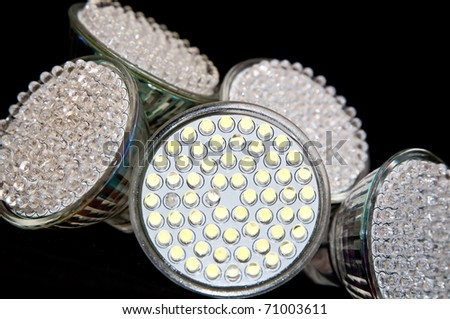 LED light bulb close up - stock photo