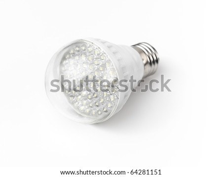 LED light bulb isolated on white background - stock photo