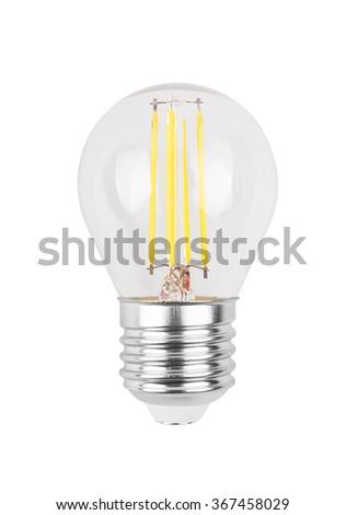 LED light bulb (lamp) Isolated on white background - stock photo