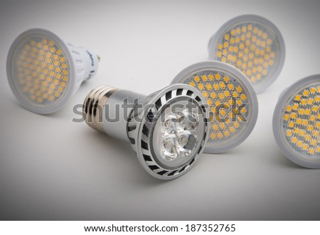 LED light bulbs - stock photo