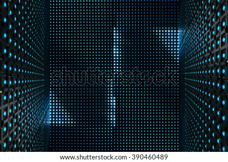 Led light digital Pattern Technology system Abstract background - stock photo
