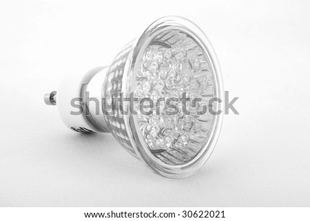 Led Light isolated on white background - stock photo