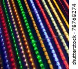 led light stripes - stock photo