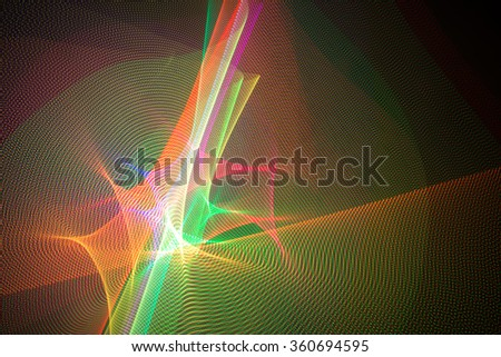 LED light with different colors in space - stock photo