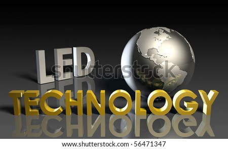 LED Modern Technology Abstract as a Concept - stock photo