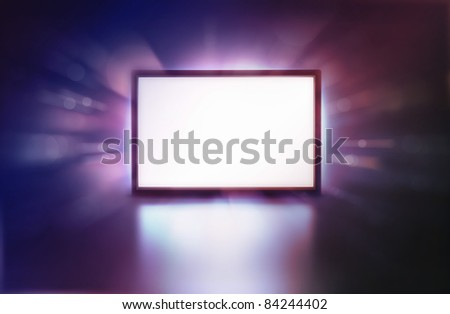 LED monitor abstract presentation screen