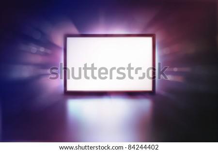 LED monitor abstract presentation screen - stock photo