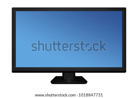 Led or Lcd tv screen isolated on white background