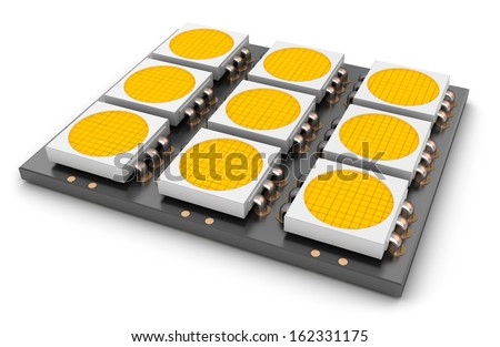LED panel, close-up - stock photo