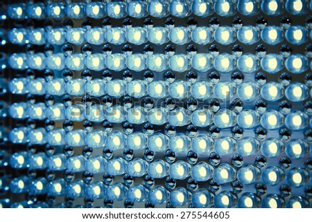 Led panel in fluorescent light close up - stock photo
