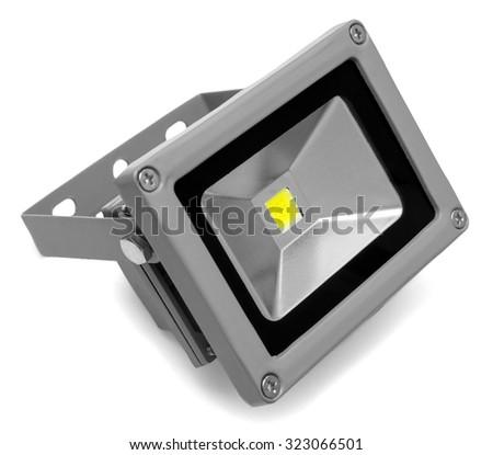 Led projector isolated on white background - stock photo