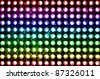 led rainbow lighting bulb pattern - stock photo