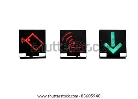 LED road signs - stock photo