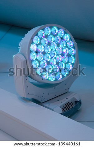 LED�s Spotlight. A single focus on  - stock photo