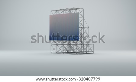 Led screen for metal construction - stock photo