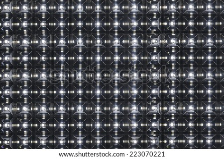 LED screen panel - stock photo