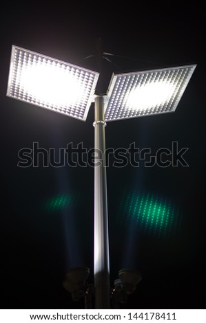 LED street light for energy conservation - stock photo