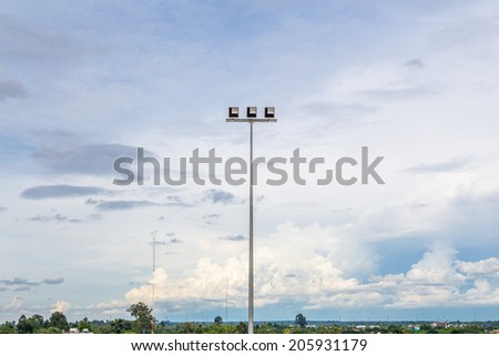 LED Street Lighting - stock photo