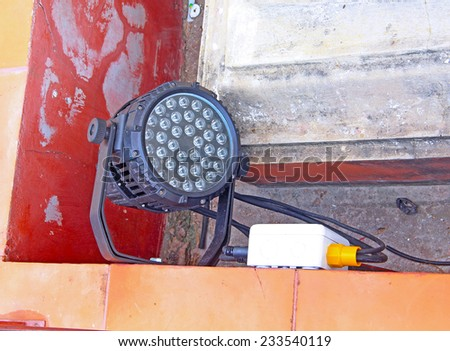 LED street sport light - stock photo