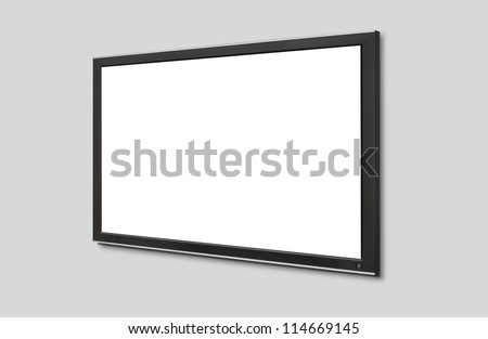 Led tv hanging on the wall - stock photo