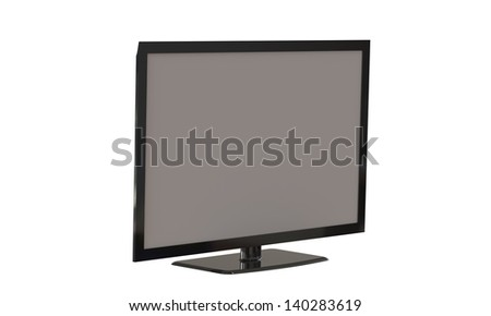 LED TV isolated on white