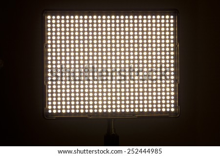 LED video light with variable color temperature. - stock photo