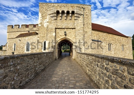Leeds castle gate entrance, Kent, United Kingdom (UK) - stock photo