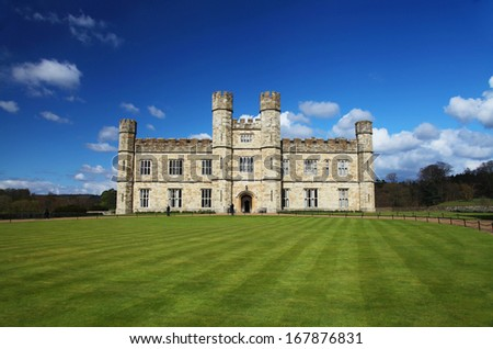 Leeds Castle in England - stock photo