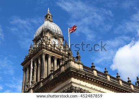 Leeds - city in West Yorkshire, UK. City Hall building. - stock photo