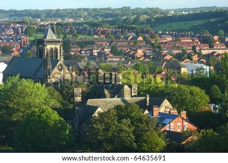 Leeds Cityscape, United Kingdom - stock photo