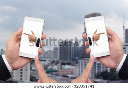 left and right concept - stock photo