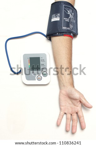Left arm Blood pressure checking - stock photo