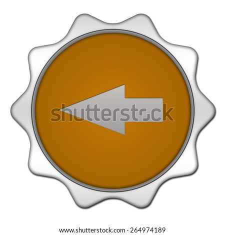 Left Arrow circular icon on white background