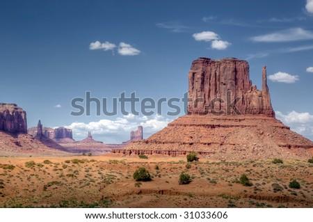 Left Mitten, Monument Valley - stock photo