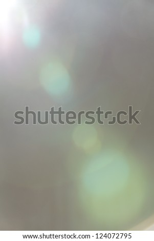 Left real lens flare and haze, for overlay layer - stock photo