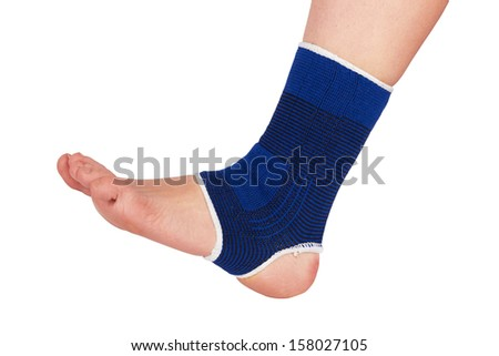 Leg in a bandage from stretch