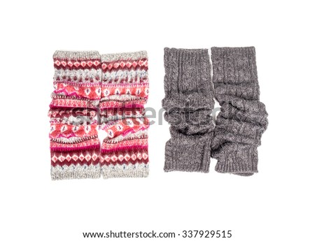 Leg Warmers Isolated on White - stock photo