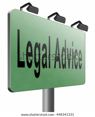 legal advice or information from lawyer advisor when going to trial, 3D illustration, isolated, on white  - stock photo