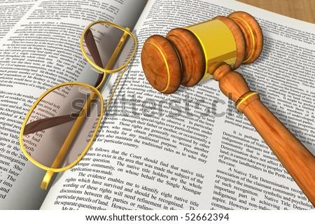 Legal/bidding concept - stock photo