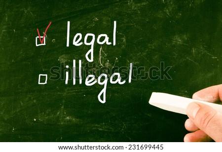 legal concept - stock photo