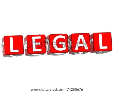 Legal Cube text - stock photo