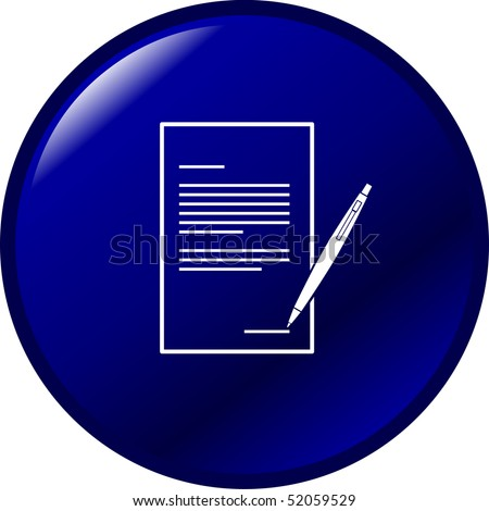legal form or document button - stock photo