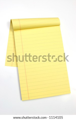 Legal note pad on a white background - stock photo